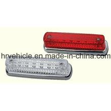 Lámpara ovalada de marcador lateral de color rojo ovalado