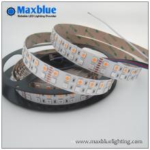 Luz de tira doble de la fila SMD5050 RGBW LED de DC12V / 24V 144LEDs / M