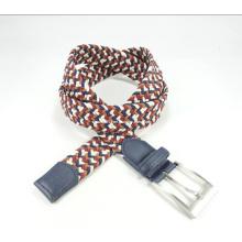 Elastic Braided Belt of Metal Buckle