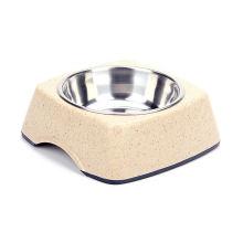 237g Katze / Hunde Feeder, Runde Bambus Pet Bowls