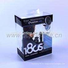 Fancy folding plastic usb flash drive packaging box