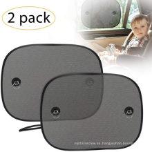 Parasol para ventana de automóvil, parasol para ventana lateral de automóvil para bebé con ventosas, bloqueador solar de malla de doble capa para proteger a las mascotas de los niños de los rayos solares / UV, se adapta a la mayoría de automóviles / SUV