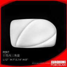 plat en vente chaude forme porcelaine vaisselle fine ceramic hotel