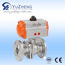 Vanne à bille en acier inoxydable 2PC avec actionneur pneumatique