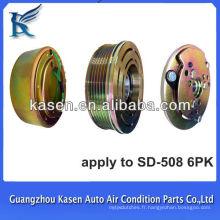 Poulie auto embrayage 12v / 24v sanden508 6 pk ac embrayage magnétique poulie auto conditionnée