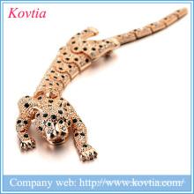 Nouvelle broche en ligne 2016 de léopard, broche pleine diamant broches en diamant en cristal autrichien
