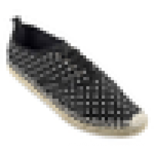 Lovely polka dots canvas shoe lace up rubber sole jute espadrilles for women or girls