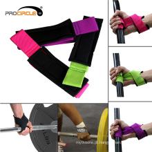Correias de pulso multicolorido do Gym do treinamento do levantamento de peso
