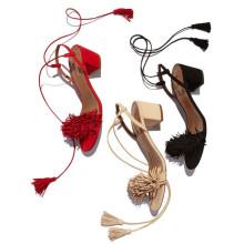 кисточкой женщины сандалии 2016 летние высокие каблуки