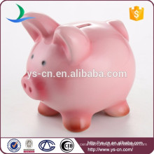 Hot sale ! cute Ceramic Pink Piggy Coin Bank by Spray Color