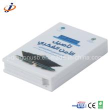 Plástico de la pluma del libro USB con impresión a todo color (JP313)