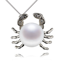 Snh Animal Shape Natural Freshwater Pearl Pendant 925 Silver