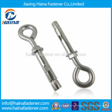 Hot sale carbon steel eye bolt with drywall anchor concrete lifting eye bolt use for roof ceiling