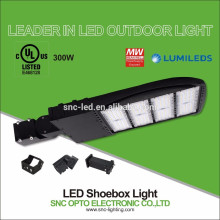 300W LED Area Light Shoebox Lighting Fixture for Wall or Pole Mounting in Parking Lots