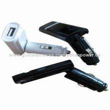 Folding USB car charger for mobile phone, iPad and iPhone series of digital electronic products