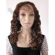 Beauty Brazilian Hair Ladies Full Lace Wig Fashion wavy with baby hair all around