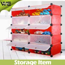 Cabinet portatif de chaussure de tiroir de la vente chaude 3 avec la belle conception et couleur