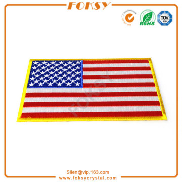 USA Flag iron on embroidery patch