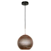 Éclairage pendant décoratif d'ombre ronde en verre moderne