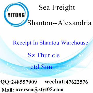 Shantou Port LCL Consolidation To Alexandria