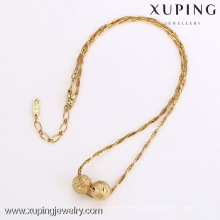 42135-Xuping generosa moda estilo 18k ouro frisado colar de jóias