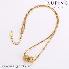 42135-Xuping щедрый Стиль моды 18k золото ювелирные изделия из бисера ожерелье