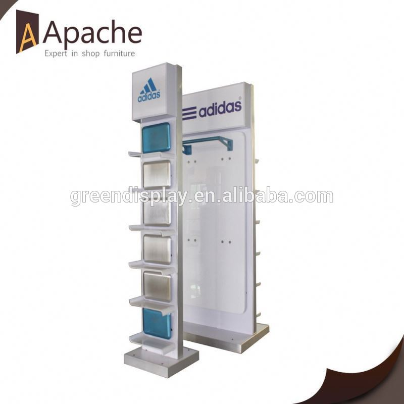 Free standing shoe display stand