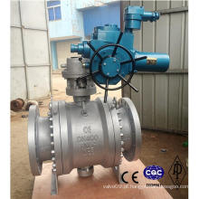 Wcb / Aço Inoxidável Flangeado Válvula De Esfera Elétrica Pn64 Dn400