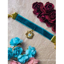 Синее колье-чокер BJD для шарнирной куклы SD / 70 см