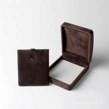 Caja de joyería de papel del regalo del empaquetado del collar del diseño negro por encargo de alta calidad