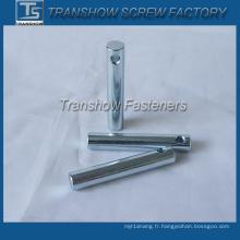 Goupilles parallèles galvanisées en acier avec trou