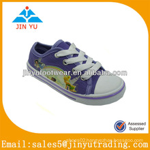 Wholesale kids purple canvas shoes