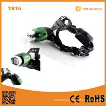 T816 High Power LED Headlamp Zoom réglable Focus Best-Selling LED Headlamp Puissant