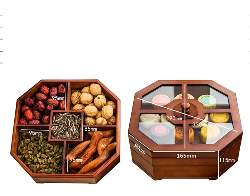 china style wooden dried fruit box