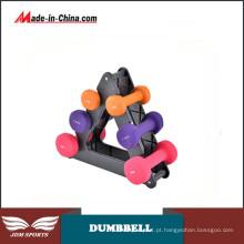 Conjunto de exercícios de haltere pesado cheio de halteres