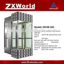 ZXC08-601 Full Glass Panoramic Passenger Elevator