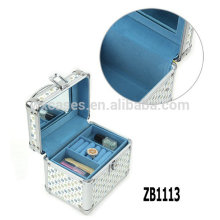 New arrival aluminum jewelry box with a removable tray inside