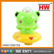 New design musical light plastic frogs toy