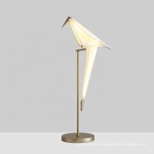 ZhongShan GuZhen Swing Origami Bird Table Lamp Modern Luxury Desk LED Table Lamp Desk