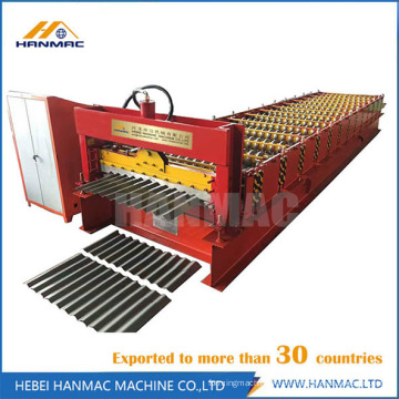 Rollo de techo corrugado que forma la máquina