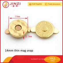 14mm fecho de pressão magnético para bolsa