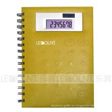 Mittlere Größe 8-stellige Notebook-Rechner mit PVC-Frontabdeckung (LC563B)