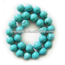 14MM круглый бирюзовый камень ювелирные изделия бисер