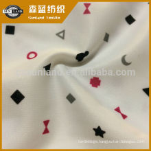 burn out pattern printing 100 polyester knit interlock fabric
