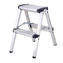 Aluminum double side folding domestic step ladder with en131
