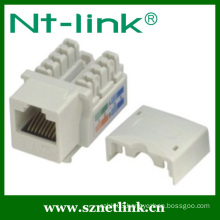 90 degree Dual IDC utp cat6/cat5e keystone jack