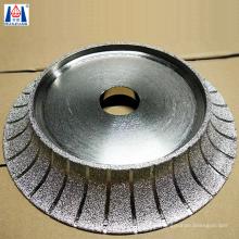 Vacuum Brazed Demi Bullnose Stone Diamond grinding Profile Wheels