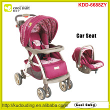 Manufacturer new baby stroller organizer 2 to 1 adjustable handle height baby stroller with carseat