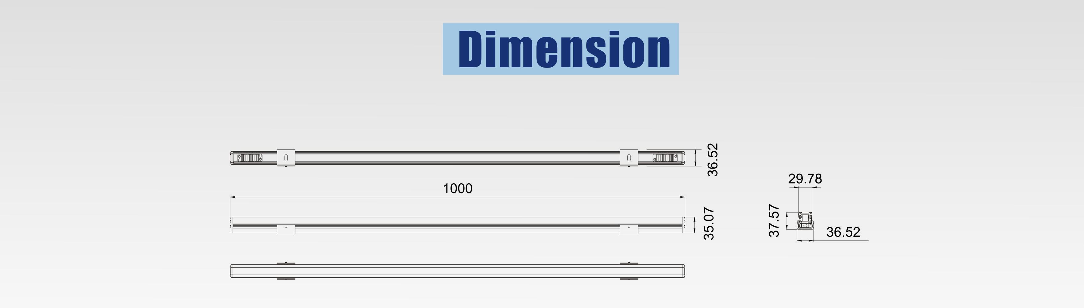 led rigid light dimension