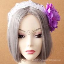 Gets.com Factory Wholesale Girls Jewelry Bague pour cheveux en fleurs
